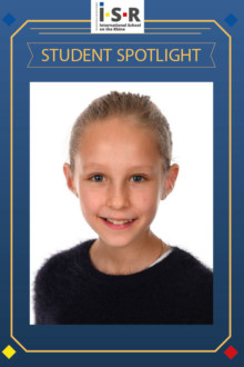"This week, we spotlight our cheerful third-grader Hannan, who joined ISR in Grade 1. Hannan is a really helpful and dedicated young lady. Ms. Carolus who was her Grade 2 teacher commented, ""it was a great pleasure to have had Hannan as a student. She always tried her very best in everything, was well liked by her classmates and was always willing to lend a helping hand. I have enjoyed teaching Hannan and I wish her all the best!"""